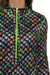 Mock Long Sleeve Scuba Print Golf Dress KH-D06-9 Image 6