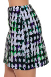 EP Sport Women's Prismatic Stained Glass Floral Print Pull On Golf Skort