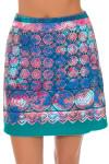 EP Pro Women's Cassis Tie-Dye Lace Border Print Pull On Golf Skort