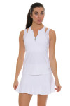 Sofibella Women's Athletic White Tennis Tank Top SFB-1669 Image 5