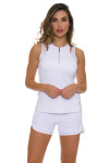 Sofibella Women's Athletic White Tennis Tank Top SFB-1669 Image 4