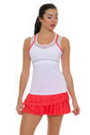 Lucky In Love Women's Outside the Lines Rally Pleat Tier Flame Tennis Skirt LIL-CB161-807