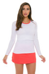 Lucky In Love Women's Outside the Lines Long Back Pleat Tier Flame Tennis Skirt