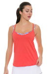 Lucky In Love Women's Outside the Lines Brallete Cami Flame Tennis Tank