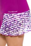 Denise Cronwall Women's Mosaic Violet Grace Tennis Skirt DC-SK-420-MOV Image 3