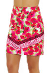 EP Pro NY Women's Poppy Fields Bouquet Print Golf Skort EPNY-1122NAB Image 2
