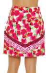 EP Pro NY Women's Poppy Fields Bouquet Print Golf Skort EPNY-1122NAB Image 6