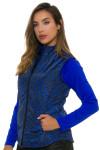 Greg Norman Women's Animal Instincts Quilted Reversible Vest | Golf Wear 2