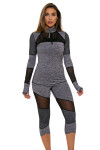 TLF Women's Bardot Graphite Heather Long Sleeve