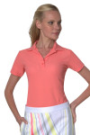 Greg Norman Women's ProTek Micro Pique Polo in Apricot GN-G2S3K445 Image 1