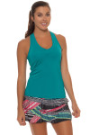 Lucky in Love Teal V-Neck Tennis Tank LIL-CT60-308-Teal Image 5