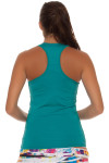 Lucky in Love Teal V-Neck Tennis Tank LIL-CT60-308-Teal Image 2