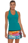 Lucky in Love Teal V-Neck Tennis Tank LIL-CT60-308-Teal Image 7
