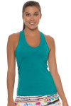 Lucky in Love Teal V-Neck Tennis Tank LIL-CT60-308-Teal Image 1