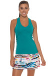 Lucky in Love Teal V-Neck Tennis Tank LIL-CT60-308-Teal Image 3