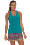 Lucky in Love Teal V-Neck Tennis Tank LIL-CT60-308-Teal Image 9