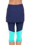 Sofibella Women's Nautical Navy Abaza Tennis Skirt Leggings | Tennis Wear 5