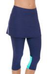 Sofibella Women's Nautical Navy Abaza Tennis Skirt Leggings | Tennis Wear 3