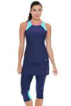 Sofibella Women's Nautical Navy Abaza Tennis Skirt Leggings | Tennis Wear 1