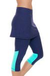 Sofibella Women's Nautical Navy Abaza Tennis Skirt Leggings | Tennis Wear 4