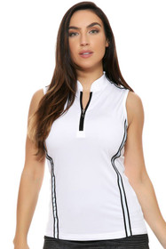 Instant Reflective Trim Zip Golf Polo Shirt