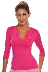 Pure 3/4 Sleeve Pink Top