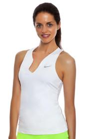 Pure Split V-Neck White Tennis Tank
