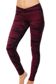 Bordeaux V-Ankle Workout Pants