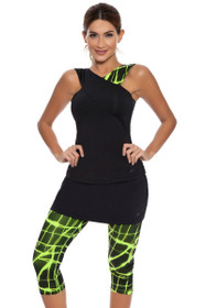 Platinum Tennis Skirt Capri