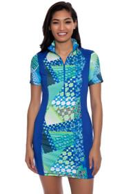Kevan Hall Sport Women's Spring Cold Shoulder Mock Golf Dress