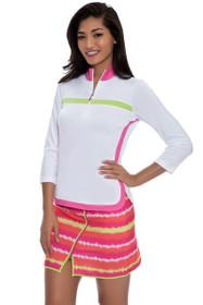 EP Pro Women's Bellini Static Stripe Print Golf Skort