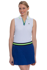 Lacoste Women's Royal Blue Contrast Waistband Pleated Tennis Skirt