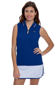 Lacoste Women's Royal and White Contrast Tipped Tennis Skirt