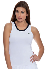 White Mesh Back Tennis Tank