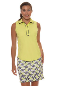 Greg Norman Women's Key Largo Geo Print Knit Pull-On Golf Skort