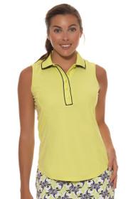Greg Norman Women's Key Largo Contrast Trim Sleeveless Golf Shirt