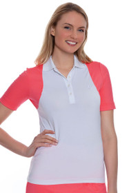 Golfino Women's Volcano Colorblock Golf Polo Shirt