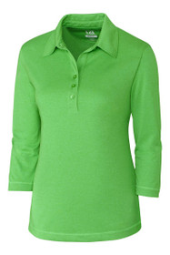 Cutter and Buck Women's Basics Chelan 3/4 Sleeve Golf Polo Shirt