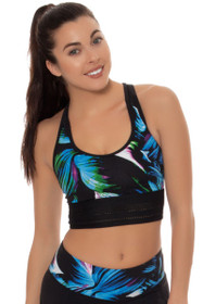 New Balance Women'sLeaf Print Leaf Print Sports Bra Crop