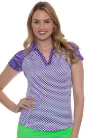 Jofit Women's Malbec Jofit Women's Malbec Jo Tech Swiss Dot Golf Polo