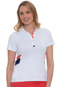 EP Pro Women's Rittenhouse Graphic Color Block Golf Polo Shirt