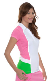 EP Sport Women's Coachella Onstage Color Blocked Golf Polo Shirt