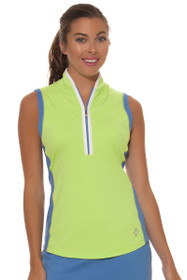Jofit Women's Chardonnay Tapered Collar Sleeveless Golf Shirt