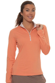 Fairway and Greene Women's Somerset Grace Zip Mock Golf Long Sleeve