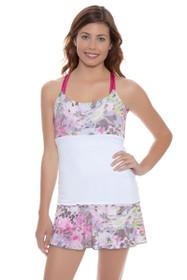 Denise Cronwall Womens's Wyn Wyn All-Over Print Tennis Skirt