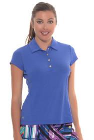 EP Sport Women's Obsidian Gems Snap Placket Golf Polo Shirt