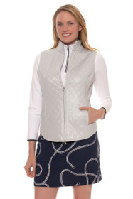 Greg Norman Women's Chain Reaction Foil Chain Print Knit Golf Skort