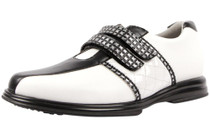 Sandbaggers Women's  Krystal Black Strap Women's Golf Shoe