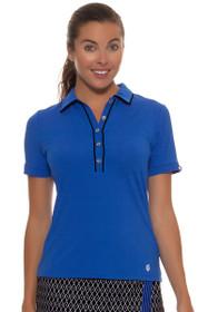 GGBlue Women's Black Diamond Cora Golf Polo Shirt