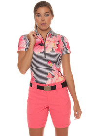 Jofit Women's Cabernet Belted Golf Short